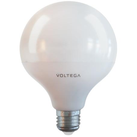 Светодиодная лампа Voltega Simple 7087 шар E27 15W, 4000K (дневной) 220V, гарантия 2 года