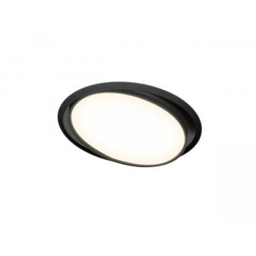 Встраиваемая светодиодная панель Donolux Moon DL18813/15W Black R, LED 15W, 3000K (теплый)
