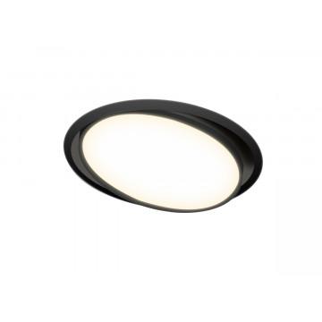 Встраиваемая светодиодная панель Donolux Moon DL18813/23W Black R, LED 23W, 3000K (теплый)
