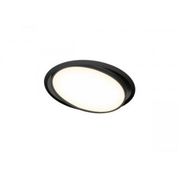 Встраиваемая светодиодная панель Donolux Moon DL18813/9W Black R, LED 9W 3000K 780lm