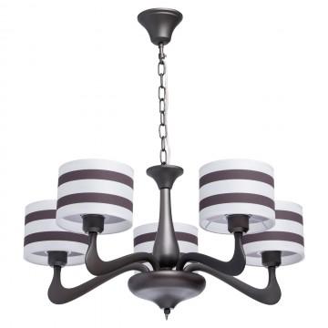 Подвесная люстра MW-Light Николь 364014205, 5, коричневый, белый, металл, текстиль