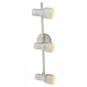 Потолочный светильник с регулировкой направления света Lussole LGO Miami LSP-8057, IP21, 3xE14x40W, белый с золотой патиной, металл