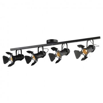 Потолочный светильник с регулировкой направления света Lussole Loft Thornton LSP-8076, IP21, 4xE14x40W, черный, металл