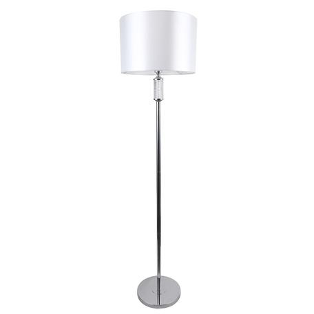 Торшер MW-Light Онтарио 692041601, 1xE27x60W, хром, белый, металл со стеклом, текстиль