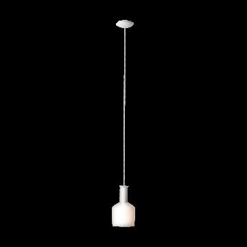 Подвесной светильник Eglo Pascoa 39138, 1xE27x60W, белый, металл, стекло