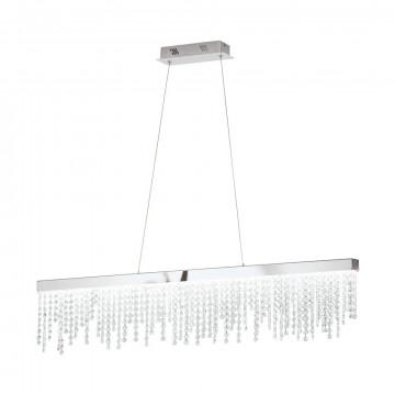 Подвесной светодиодный светильник Eglo Stars of Light Sparkling Crystal Antelao 39284, LED 32W 4000K 4200lm CRI>80, хром, прозрачный, металл, хрусталь