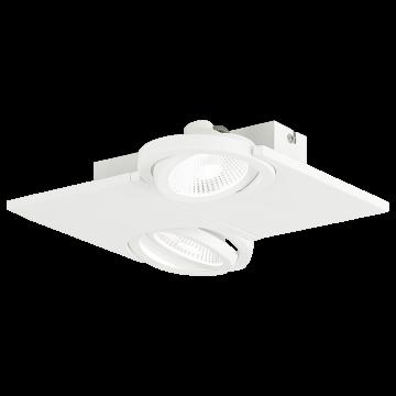 Потолочный светодиодный светильник с регулировкой направления света Eglo Brea 39134, LED 10W, белый, металл, стекло