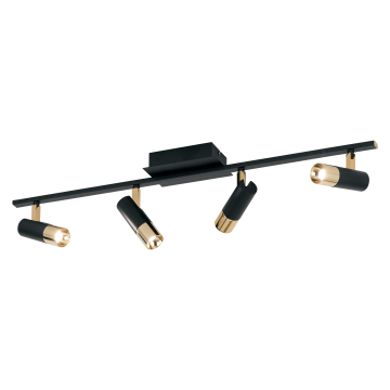 Потолочный светодиодный светильник с регулировкой направления света Eglo Tomares 39147, LED 20W 3000K 7680lm CRI>80, черный, металл
