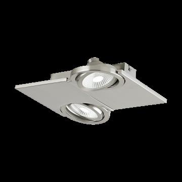 Потолочный светодиодный светильник с регулировкой направления света Eglo Brea 39248, LED 10W, никель, металл, стекло