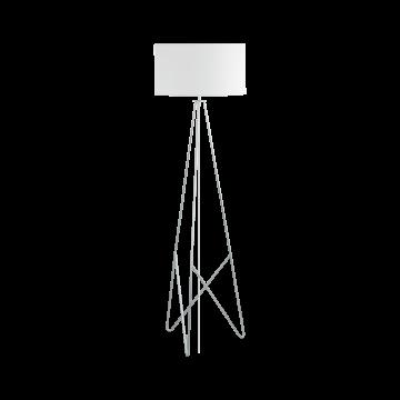 Торшер Eglo Camporale 39232, 1xE27x60W, хром, белый, металл, текстиль