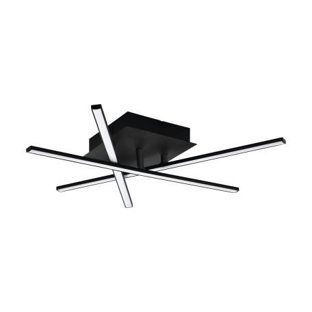 Светодиодный светильник Eglo Lasana 3 99315, LED 10,5W 3000K 1500lm, черный, черный с белым, металл, металл с пластиком, пластик с металлом