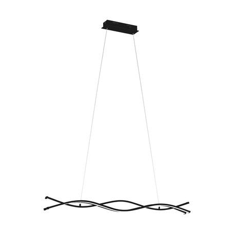 Светодиодный светильник Eglo Lasana 3 99317, LED 36W 3000K 5300lm, черный, черный с белым, металл, металл с пластиком, пластик с металлом