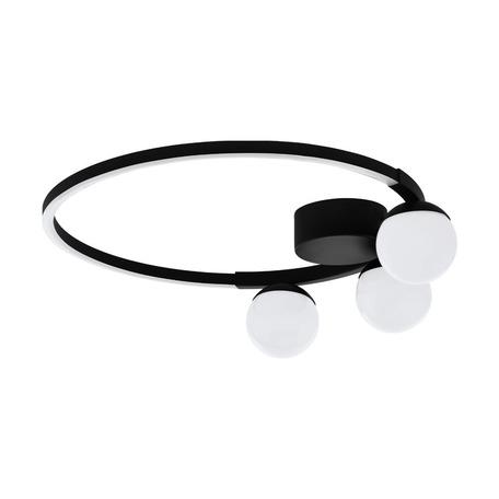 Светодиодный светильник Eglo Phianeros 99375, LED 22W 3000K 2800lm, черный, черный с белым, белый с черным, металл, пластик с металлом
