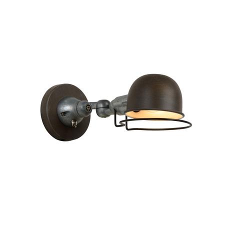 Бра с регулировкой направления света Lucide Honore 45252/01/97, 1xE14x25W, коричневый, серый, металл