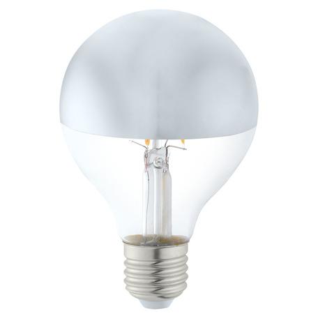 Филаментная светодиодная лампа Eglo 11613 шар E27 6W, 2700K (теплый) CRI>80, гарантия 5 лет