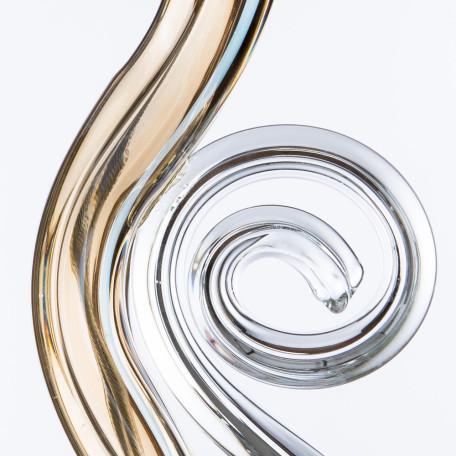 Бра Divinare Carl 5124/07 AP-1, 1xE14x40W, матовое золото, янтарь, хрусталь - миниатюра 5