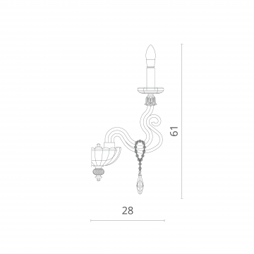 Схема с размерами Divinare 5124/07 AP-1