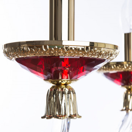 Бра Divinare Simona 5125/10 AP-2, 2xE14x40W, красный, хрусталь - миниатюра 6
