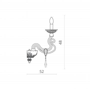 Схема с размерами Divinare 5125/10 AP-2