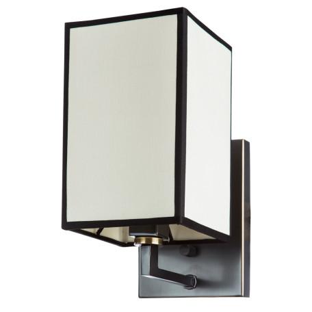Бра Divinare Porta 5933/01 AP-1, 1xE14x40W, черный, бежевый, металл, текстиль