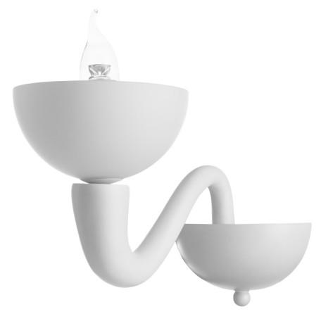 Бра Divinare Bianca-Nero 7091/01 AP-1, 1xE14x40W, белый, стекло, пластик