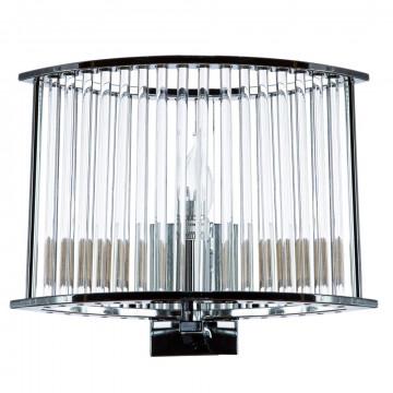 Бра Divinare Domenica 2060/02 AP-1, 1xE14x40W, хром, прозрачный, металл, металл со стеклом
