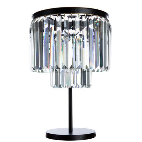 Настольная лампа Divinare Nova 3001/01 TL-4, 4xE14x40W, золото, черный, прозрачный, металл, хрусталь