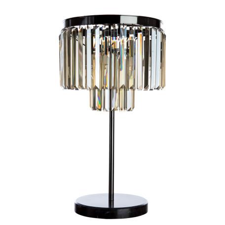 Настольная лампа Divinare Nova Cognac 3002/06 TL-3, 3xE14x40W, черный хром, коньячный, металл, хрусталь