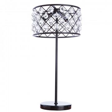 Настольная лампа Divinare Brava 8203/01 TL-3, 3xE27x40W, черный, металл, металл с хрусталем