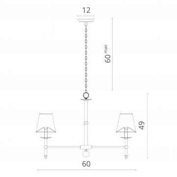 Схема с размерами Divinare 1162/01 LM-5