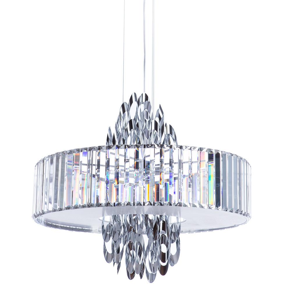 Подвесная люстра Divinare Tiziana 1285/02 SP-6, 6xG9x42W, хром, металл, хрусталь - фото 1
