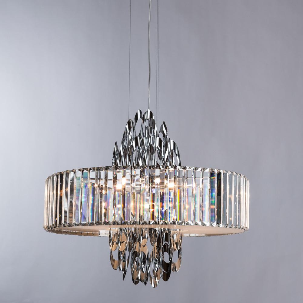 Подвесная люстра Divinare Tiziana 1285/02 SP-6, 6xG9x42W, хром, металл, хрусталь - фото 2