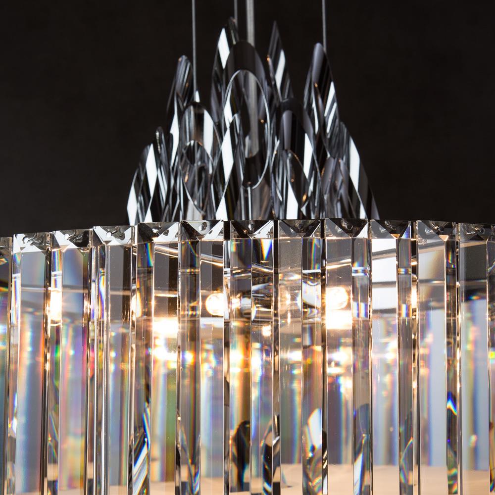 Подвесная люстра Divinare Tiziana 1285/02 SP-6, 6xG9x42W, хром, металл, хрусталь - фото 4