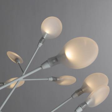 Подвесная люстра Divinare Mimi 1290/03 SP-45, 45xG4x1W, белый, металл, стекло - миниатюра 4