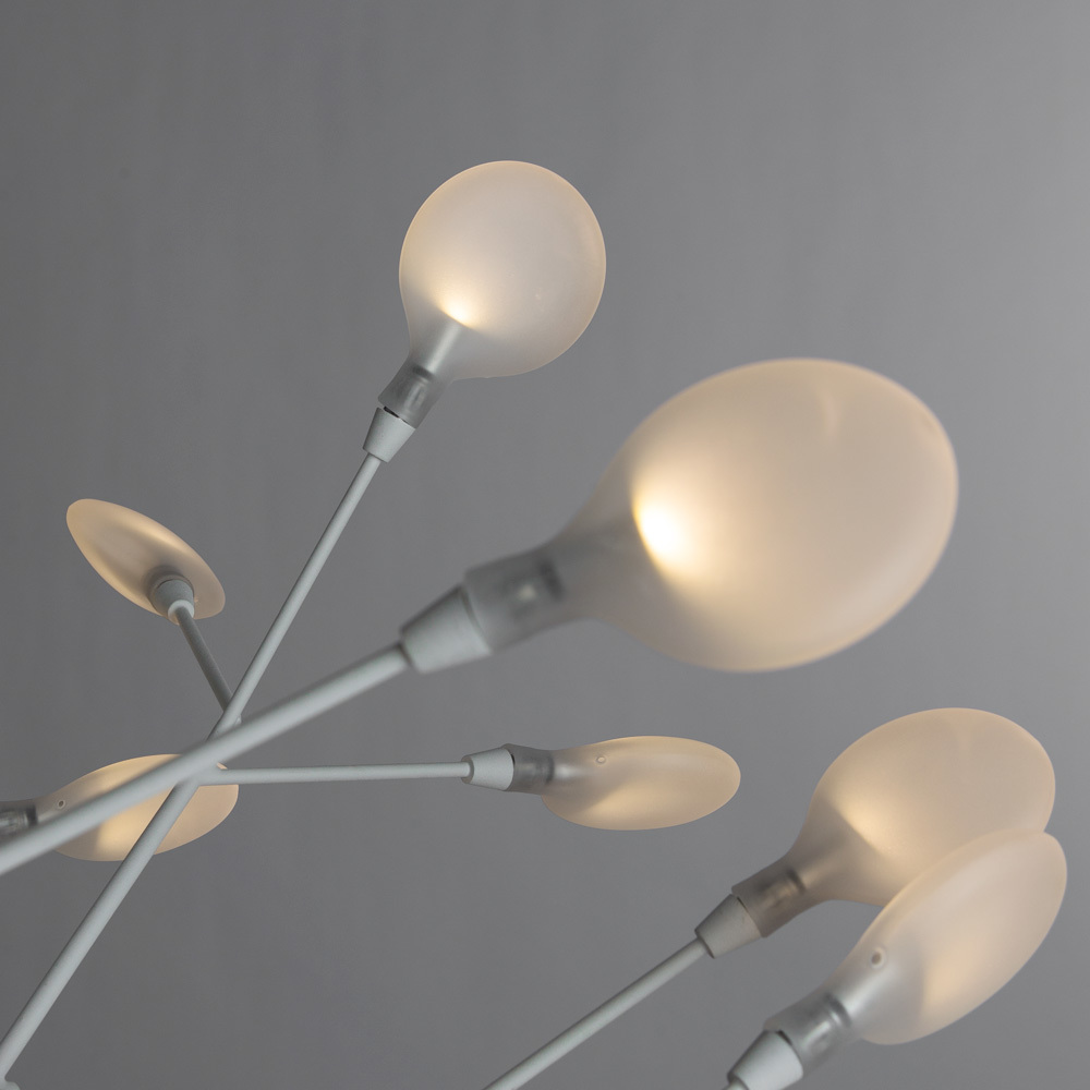 Подвесная люстра Divinare Mimi 1290/03 SP-45, 45xG4x1W, белый, металл, стекло - фото 4