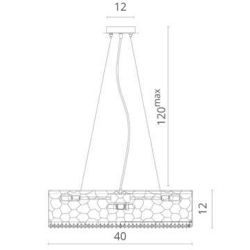 Схема с размерами Divinare 2002/01 SP-6