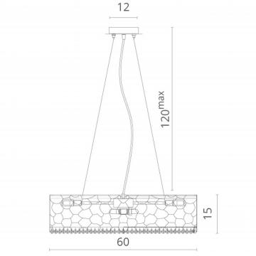 Схема с размерами Divinare 2002/01 SP-9