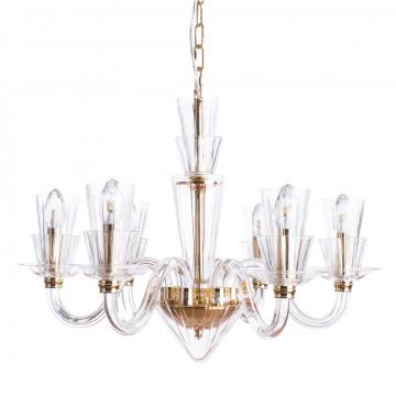 Подвесная люстра Divinare Susana 5122/09 LM-6, 6xE14x40W, золото, прозрачный, хрусталь, стекло