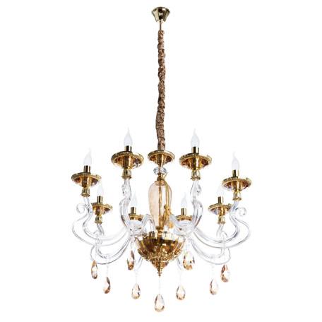 Подвесная люстра Divinare Simona 5125/07 LM-8, 8xE14x40W, золото, янтарь, хрусталь