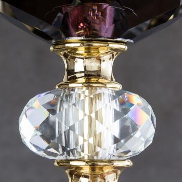 Подвесная люстра Divinare Simona 5125/12 LM-8, 8xE14x40W, фиолетовый, хрусталь - миниатюра 5