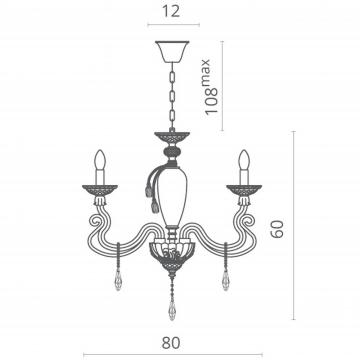 Схема с размерами Divinare 5125/12 LM-8