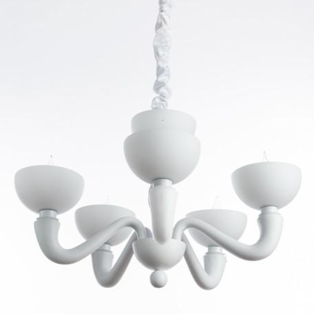 Подвесная люстра Divinare Bianca-Nero 7091/01 LM-5, 5xE14x40W, белый, металл, пластик, стекло - миниатюра 1