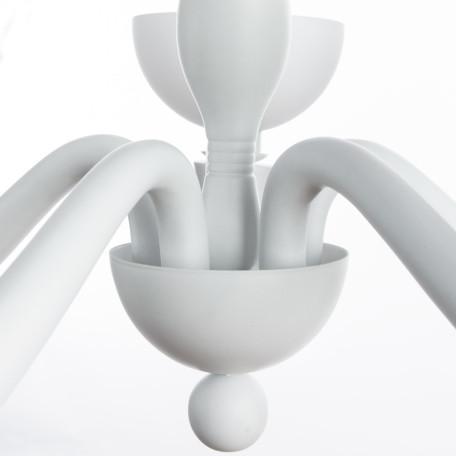 Подвесная люстра Divinare Bianca-Nero 7091/01 LM-5, 5xE14x40W, белый, стекло, пластик - миниатюра 4