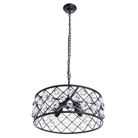 Подвесная люстра Divinare Brava 8203/01 SP-4, 4xE27x40W, черный, металл, металл с хрусталем - миниатюра 1