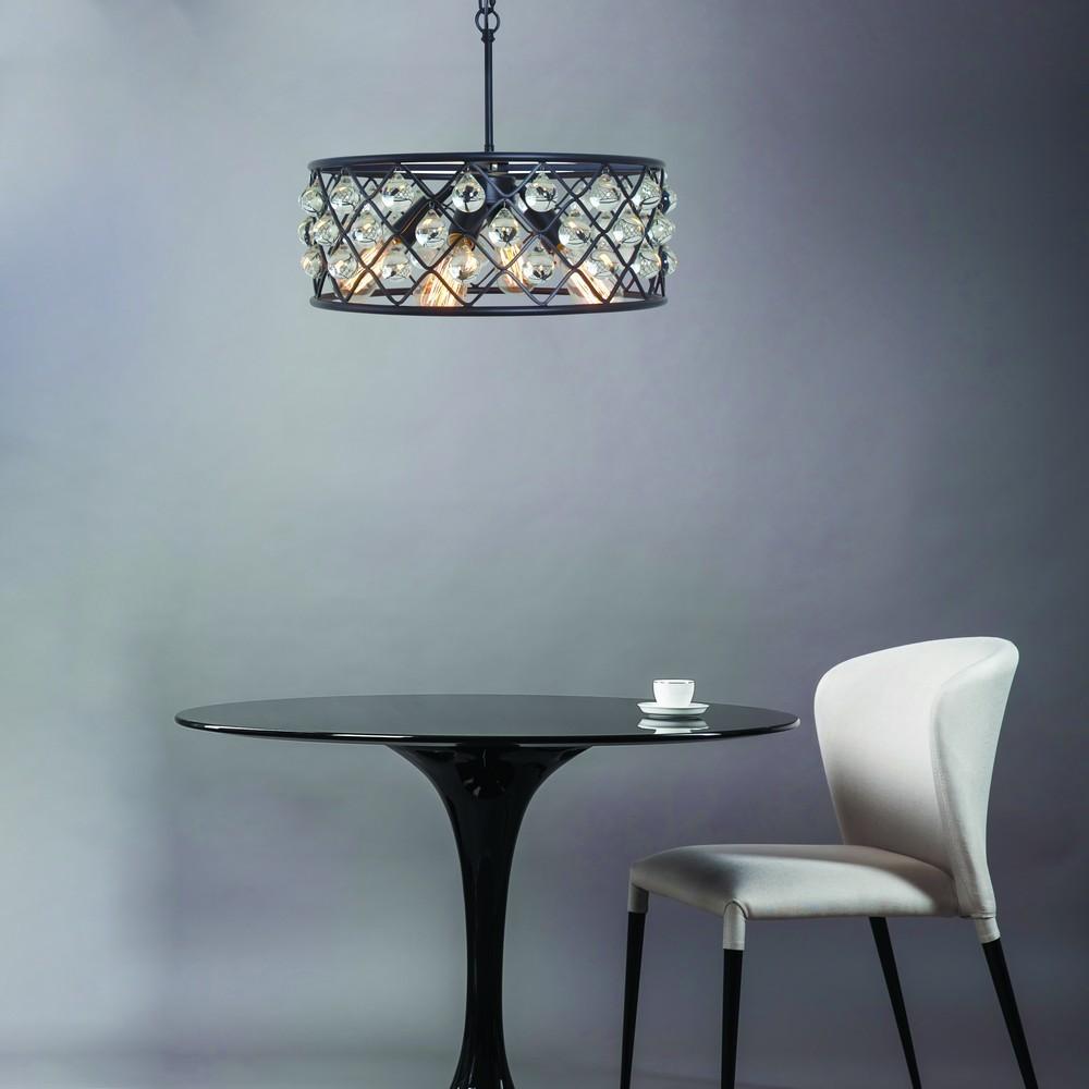 Подвесная люстра Divinare Brava 8203/01 SP-4, 4xE27x40W, черный, металл, металл с хрусталем - фото 3