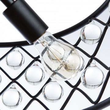 Подвесная люстра Divinare Brava 8203/01 SP-4, 4xE27x40W, черный, металл, металл с хрусталем - миниатюра 5