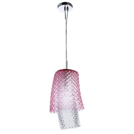 Подвесной светильник Divinare Miracolo 1152/01 SP-1, 1xE27x100W, хром, розовый, металл, стекло
