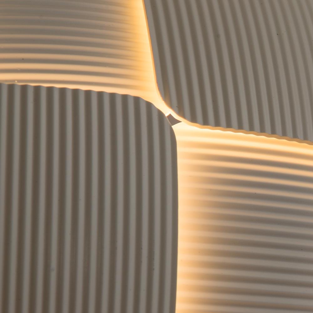 Подвесной светильник Divinare Beata 1317/21 SP-8, 8xE27x24W, белый, металл, пластик - фото 4