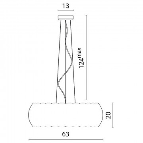 Схема с размерами Divinare 1317/21 SP-8