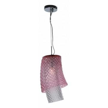 Подвесной светильник Divinare Miracolo 1152/01 SP-1, 1xE27x100W, хром, прозрачный, розовый, металл, стекло